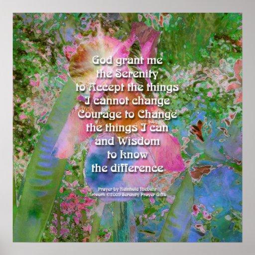 Serenity Prayer Wild Iris 3 Poster