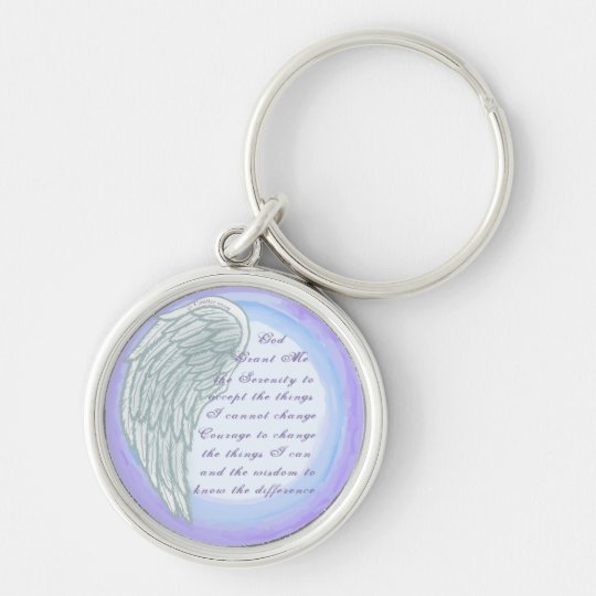 Serenity Prayer Wing premium round key chain