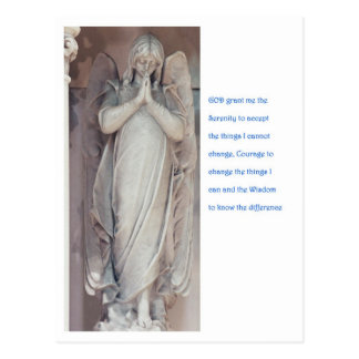 Serenity Prayer with Angel Postcard