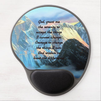 Serenity Prayer With Panoramic View Mount Everest Gel Mouse Mat