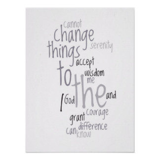 Serenity Prayer Word Art Poster