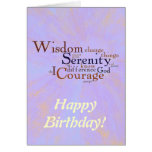 Serenity Prayer Wordle on abstract Greeting Card