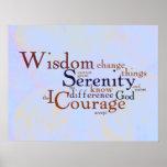 Serenity Prayer Wordle on abstract Print
