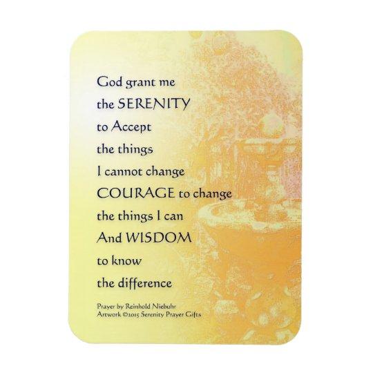 Serenity Prayer Yellow Fountain Rectangular Photo Magnet