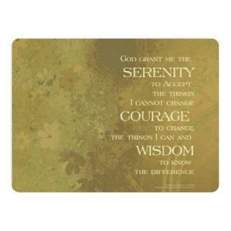 Serenity Prayer Yellow Gold 17 Cm X 22 Cm Invitation Card