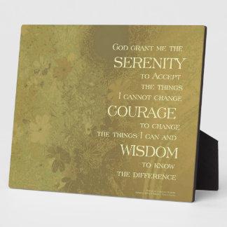 Serenity Prayer Yellow Gold Plaque