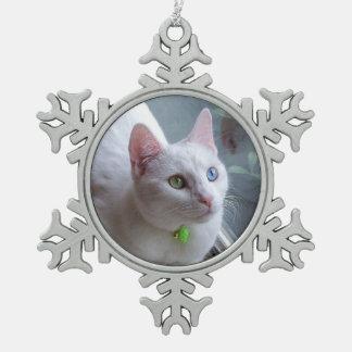 Serenity snowflake snowflake pewter christmas ornament