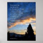 Serenity Sunrise Blue Poster
