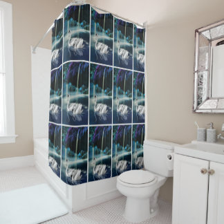Serenity Swan Shower Curtain