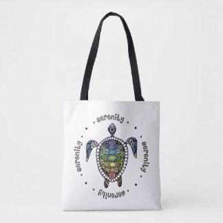 Serenity Turtle Chakras Tote Bag