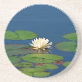 Serenity Water Lily Beverage Coaster