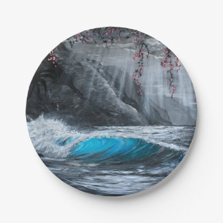 Serenity wave paper plates