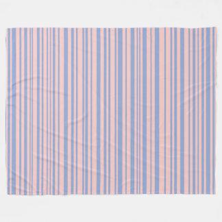 Serenity with Rose Quartz designer stripes Fleece Blanket