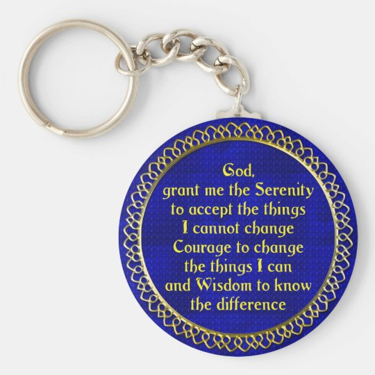 SerenityPrayer Gold Key Ring