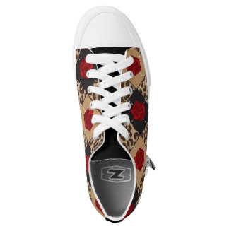 SERESHKI COLLECTION Leopard & Rose Low Top Shoes