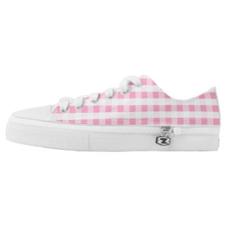 SERESHKI COLLECTION Pink Gingham Low Top Shoes