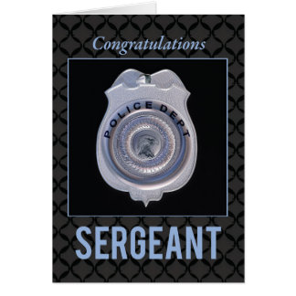 Sergeant in Police Department Promotion Congratula Card