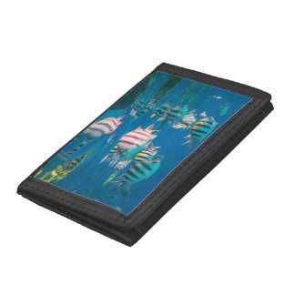 Sergeant Major Fish Trifold Wallet