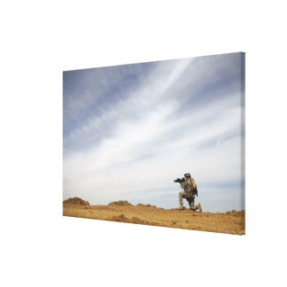Sergeant provides security canvas print