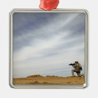 Sergeant provides security christmas ornament