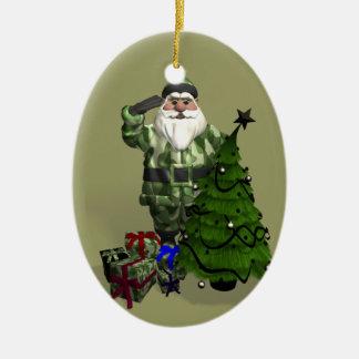 Sergeant Santa Claus Ceramic Oval Decoration