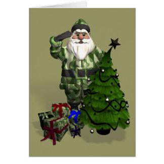 Sergeant Santa Claus Greeting Card
