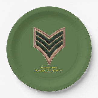 Sergeant Welcome home plate