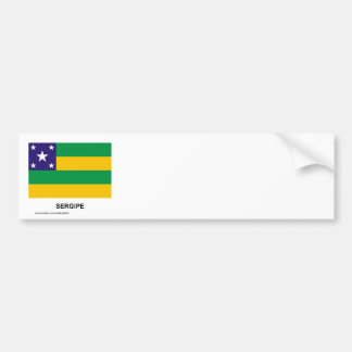 Sergipe, Brazil Flag Car Bumper Sticker