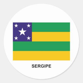Sergipe, Brazil Flag Round Sticker