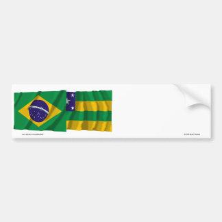 Sergipe & Brazil Waving Flags Bumper Sticker
