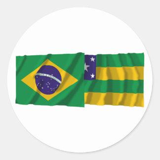 Sergipe & Brazil Waving Flags Sticker