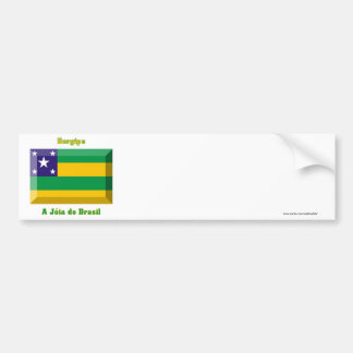 Sergipe Flag Gem Bumper Sticker
