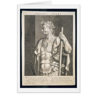 Sergius Galba Emperor of Rome 68 AD engraved by Ae Greeting Card