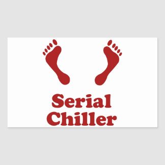 Serial Chiller Rectangular Sticker
