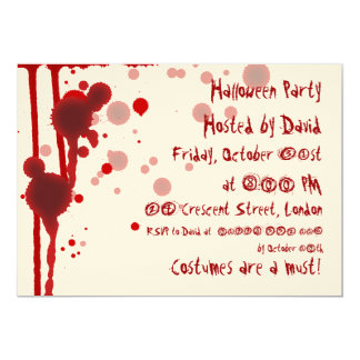 Serial Killer Halloween Party Card