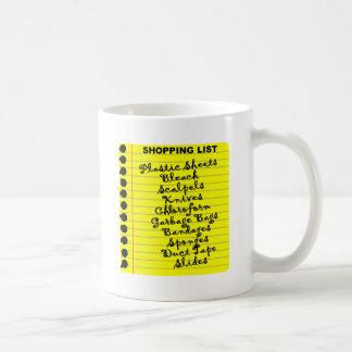 Serial Killer Shopping List! Coffee Mugs