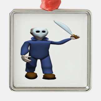 Serial Killer Stalker Silver-Colored Square Decoration