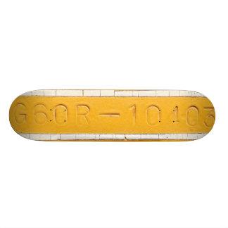 Serial number skate board deck