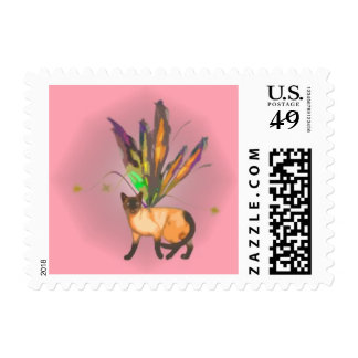 Series 1 Fae Kitty Sm. Postage Stamp 01