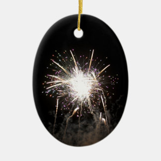 Series fireworks ceramic oval decoration