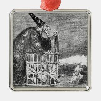 Series 'La Comete de 1857' Silver-Colored Square Decoration
