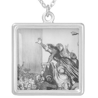 Series 'Les Divorceuses' Silver Plated Necklace
