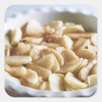 series making apple pie square sticker