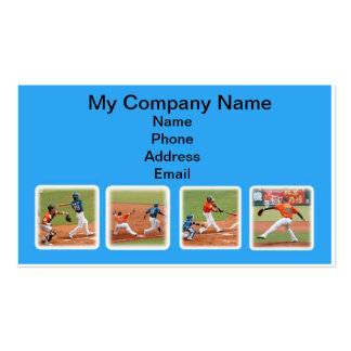 Series of Baseball Game Action Images Business Cards