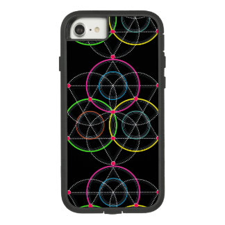 Series of Geometric Circles and Lines in Color Case-Mate Tough Extreme iPhone 8/7 Case