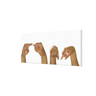 Series of hands making Z sign