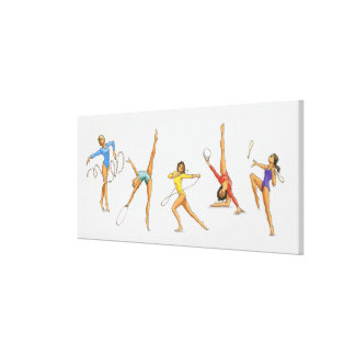 Series of illustrations showing rhythmic stretched canvas prints