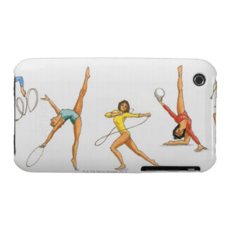 Series of illustrations showing rhythmic iPhone 3 cover