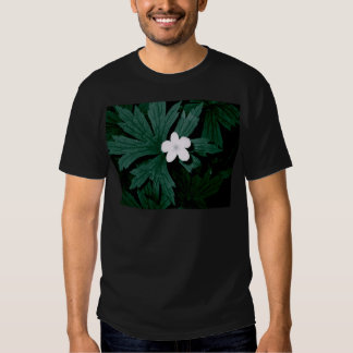 Series white flower t-shirt