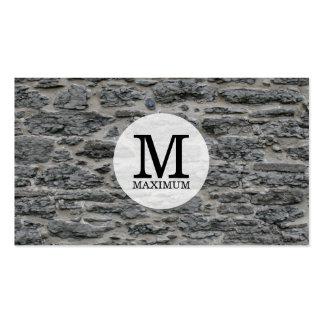 Serif Type Monogram / Stone Pack Of Standard Business Cards